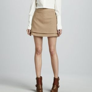 Rachel Zoe Vienna Layered Wool A-line Mini Skirt